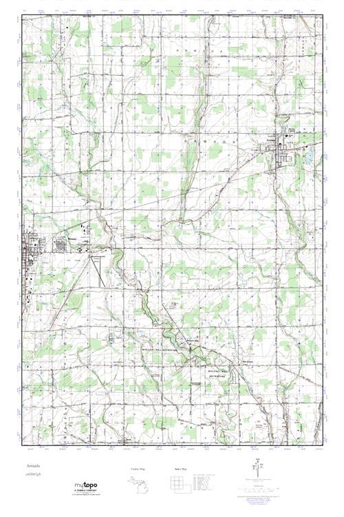 Mytopo Armada Michigan Usgs Quad Topo Map