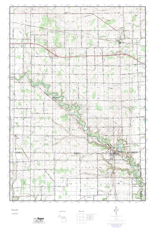 Memphis Michigan Map.Mytopo Memphis Michigan Usgs Quad Topo Map