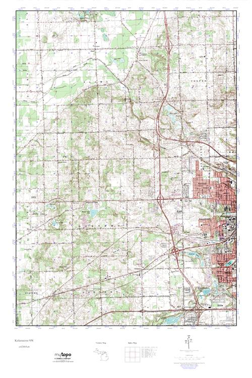Mytopo Kalamazoo Sw Michigan Usgs Quad Topo Map