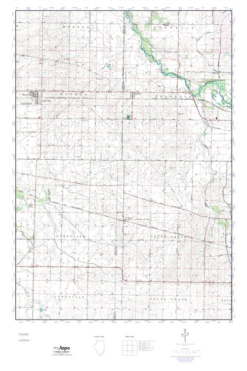 Mytopo Fairdale Illinois Usgs Quad Topo Map