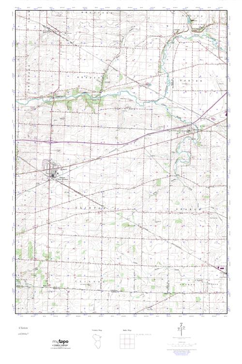 Mytopo Clinton Wisconsin Usgs Quad Topo Map