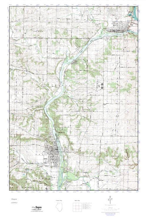 Mytopo Oregon Illinois Usgs Quad Topo Map