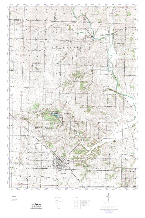Mytopo Lena Illinois Usgs Quad Topo Map
