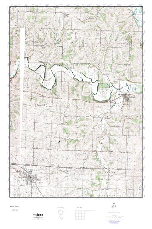 Mytopo South Wayne Wisconsin Usgs Quad Topo Map