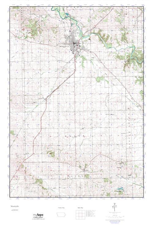 Mytopo Monticello Iowa Usgs Quad Topo Map