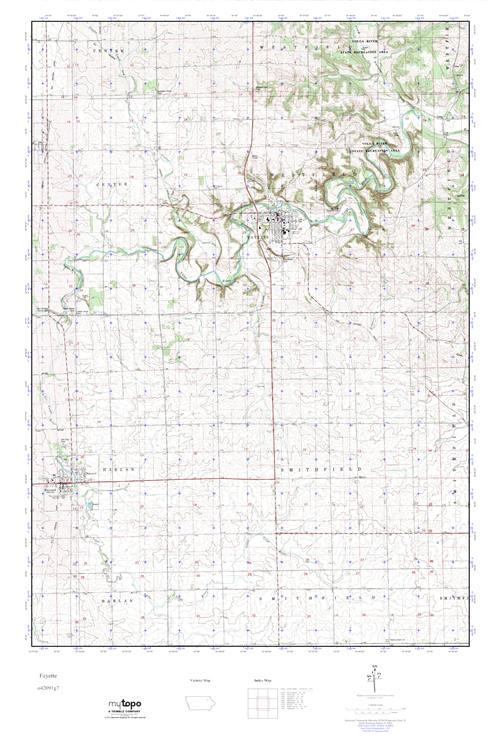 Fayette Iowa Map.Mytopo Fayette Iowa Usgs Quad Topo Map