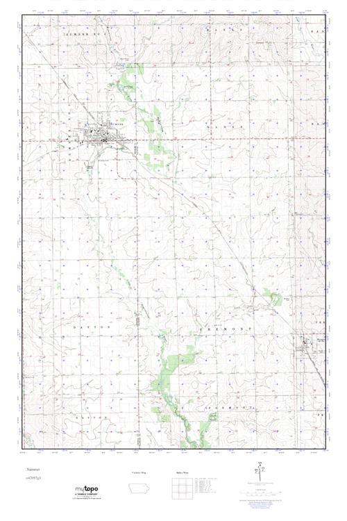 Sumner Iowa Map.Mytopo Sumner Iowa Usgs Quad Topo Map