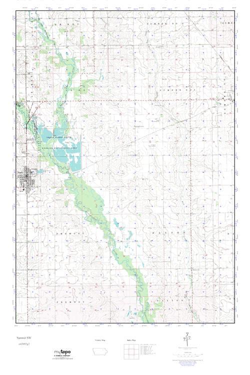 Sumner Iowa Map.Mytopo Sumner Sw Iowa Usgs Quad Topo Map