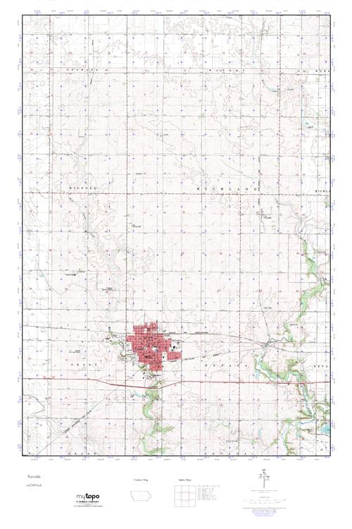 Mytopo Nevada Iowa Usgs Quad Topo Map