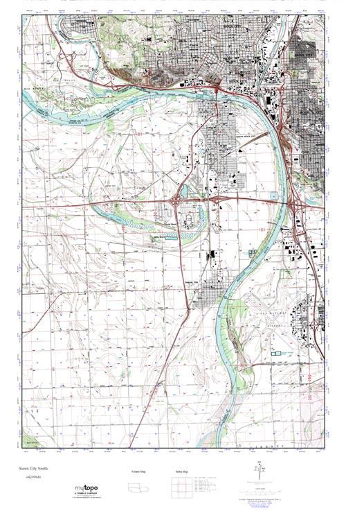MyTopo Sioux City South, South Dakota USGS Quad Topo Map