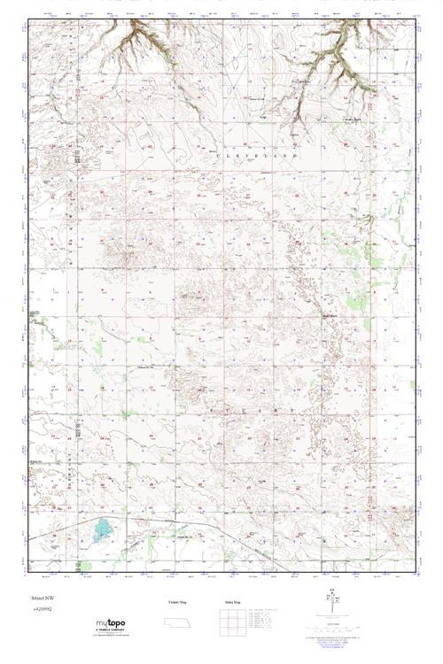 MyTopo Stuart NW Nebraska USGS Quad Topo Map