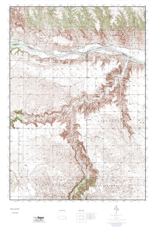 MyTopo Bassett NW Nebraska USGS Quad Topo Map