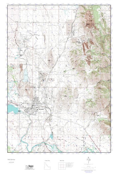 Mytopo Soda Springs Idaho Usgs Quad Topo Map