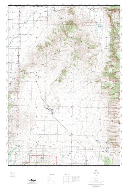Albion Idaho Map.Mytopo Albion Idaho Usgs Quad Topo Map