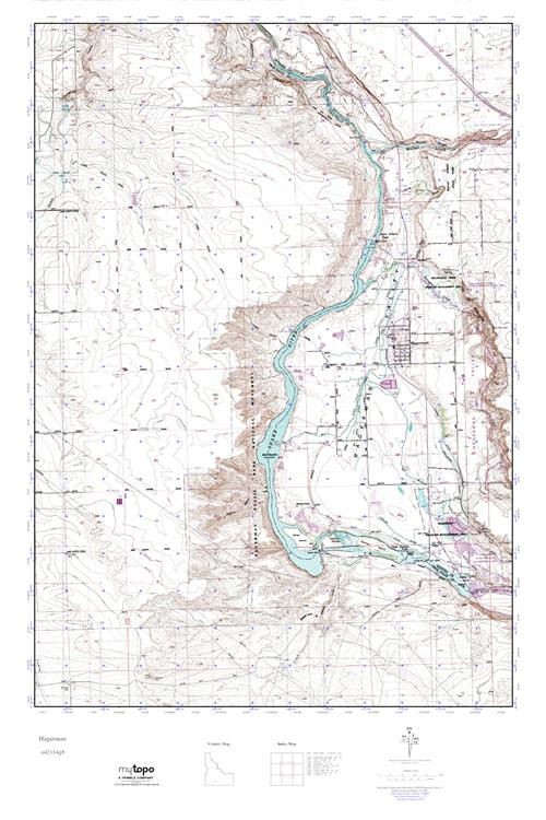 Hagerman Idaho Map.Mytopo Hagerman Idaho Usgs Quad Topo Map