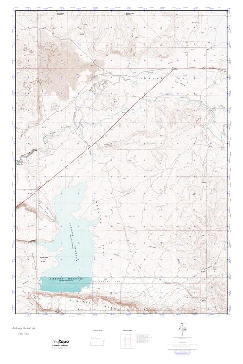 Mytopo Antelope Reservoir Oregon Usgs Quad Topo Map