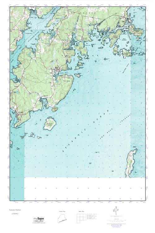 Tenants Harbor Maine Map.Mytopo Tenants Harbor Maine Usgs Quad Topo Map