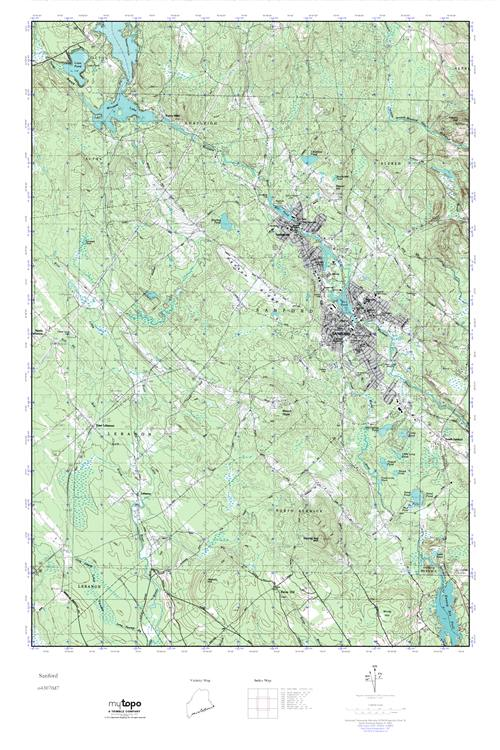 Mytopo Sanford Maine Usgs Quad Topo Map