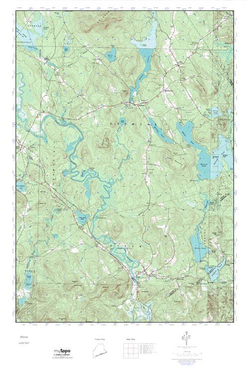 Hiram Maine Map.Mytopo Hiram Maine Usgs Quad Topo Map