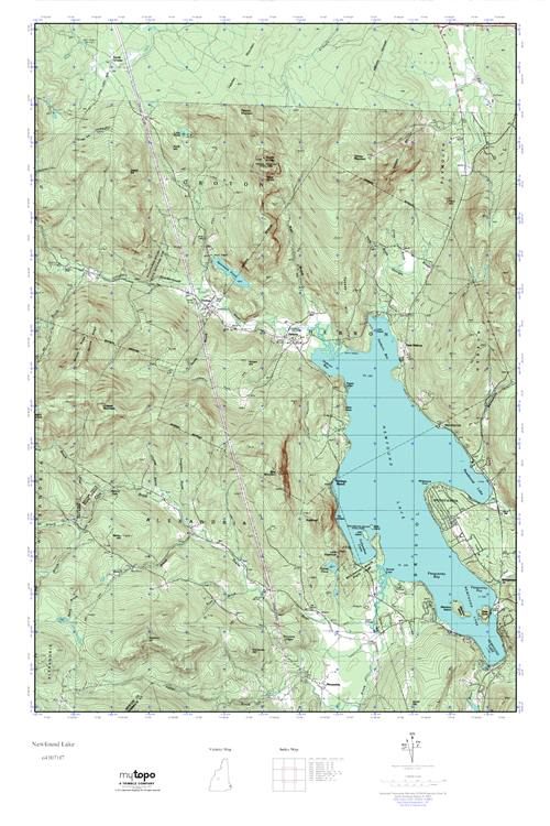 newfound lake nh map Mytopo Newfound Lake New Hampshire Usgs Quad Topo Map newfound lake nh map