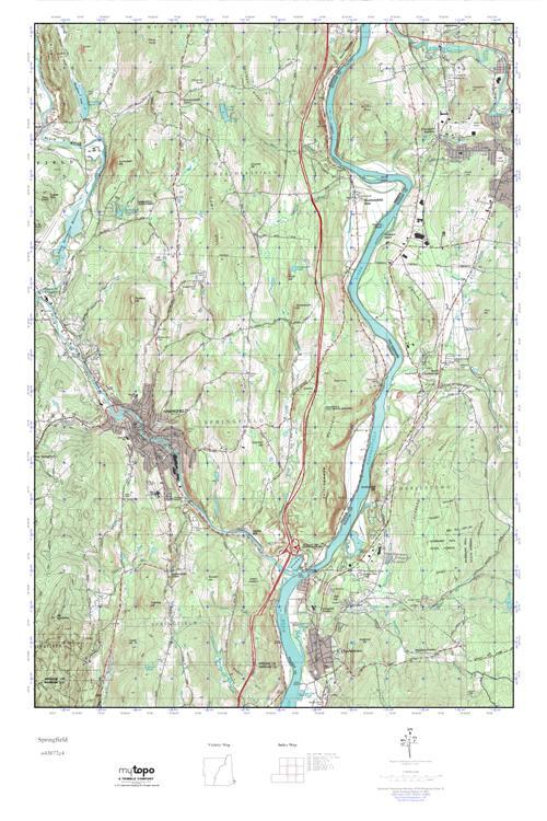 Springfield Vermont Map MyTopo Springfield, Vermont USGS Quad Topo Map