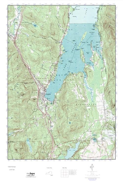 MyTopo Lake George, New York USGS Quad Topo Map
