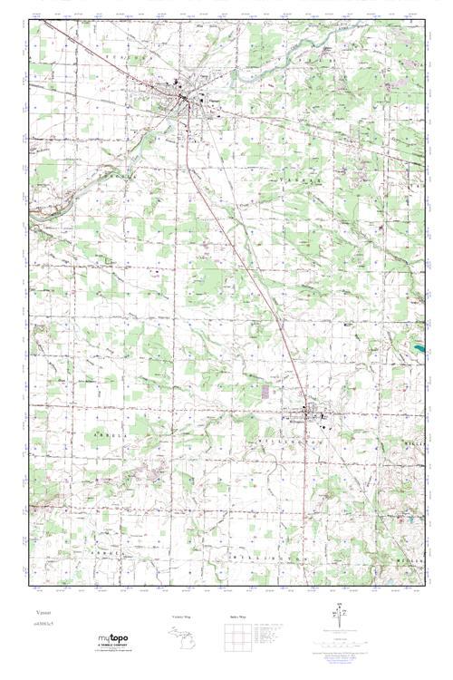 Mytopo Vassar Michigan Usgs Quad Topo Map