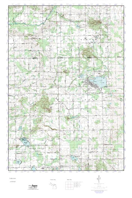 Lakeview Michigan Map.Mytopo Lakeview Michigan Usgs Quad Topo Map