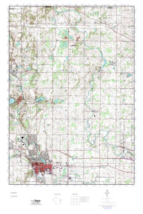 Mytopo Franklin Wisconsin Usgs Quad Topo Map