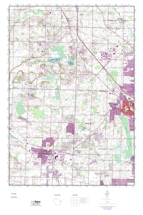 Sussex Wisconsin Map.Mytopo Sussex Wisconsin Usgs Quad Topo Map