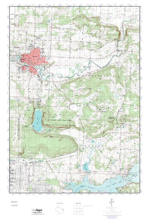 Mytopo Baraboo Wisconsin Usgs Quad Topo Map