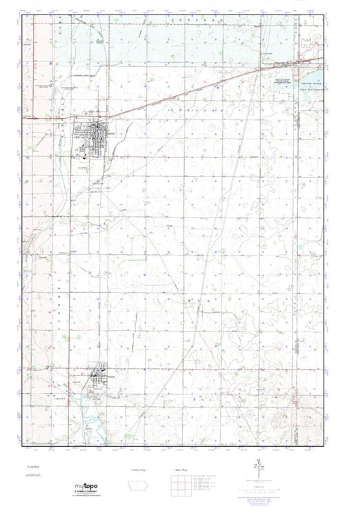 Garner Iowa Map.Mytopo Garner Iowa Usgs Quad Topo Map