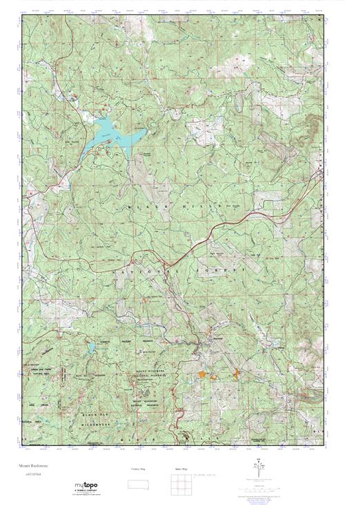 Mytopo Mount Rushmore South Dakota Usgs Quad Topo Map - Mount-rushmore-on-us-map