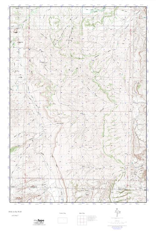 Mytopo Hole In The Wall Wyoming Usgs Quad Topo Map