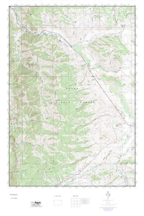 Bondurant Wyoming Map.Mytopo Bondurant Wyoming Usgs Quad Topo Map