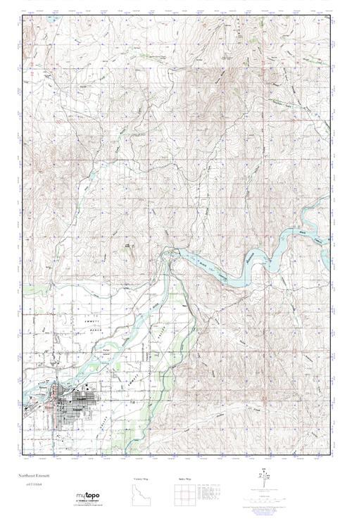 Mytopo Northeast Emmett Idaho Usgs Quad Topo Map