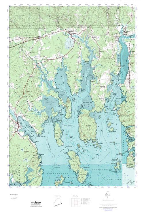 Harrington Maine Map.Mytopo Harrington Maine Usgs Quad Topo Map