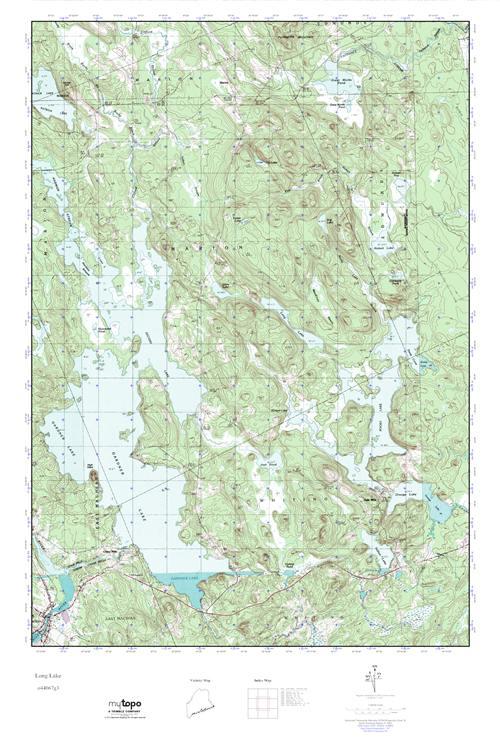 Mytopo Long Lake Maine Usgs Quad Topo Map