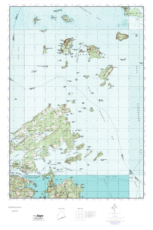 Mytopo North Haven East Maine Usgs Quad Topo Map