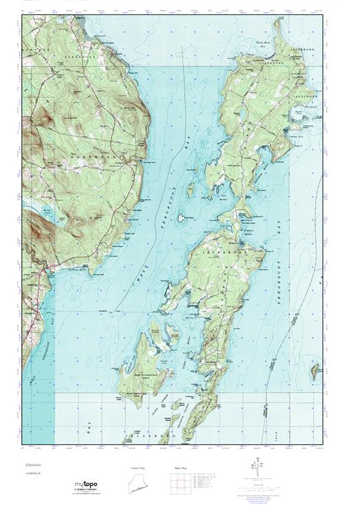 Topo Map Of Maine.Mytopo Islesboro Maine Usgs Quad Topo Map