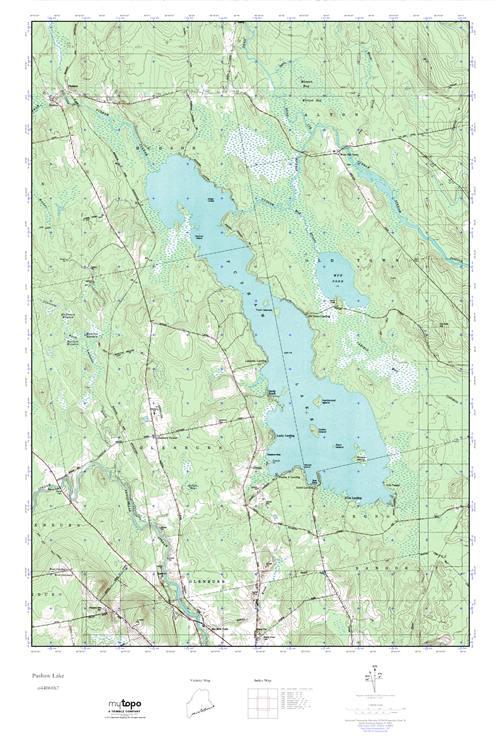 Mytopo Pushaw Lake Maine Usgs Quad Topo Map