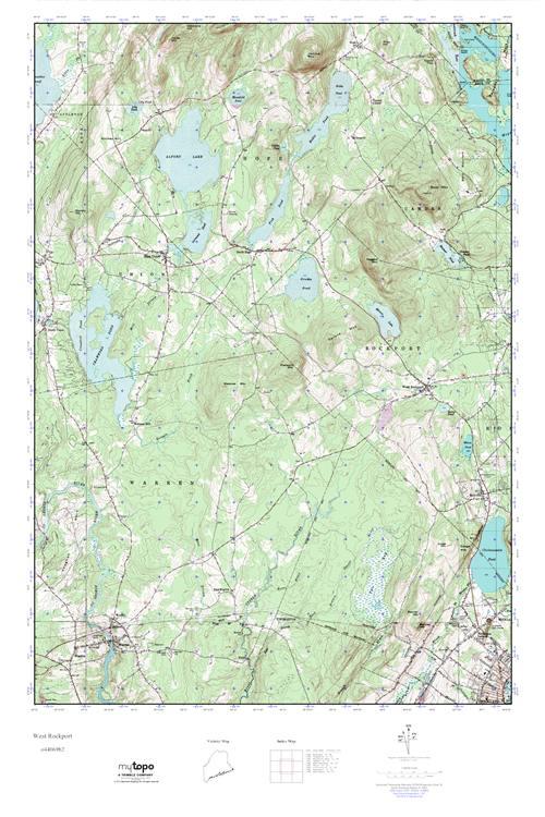 Mytopo West Rockport Maine Usgs Quad Topo Map