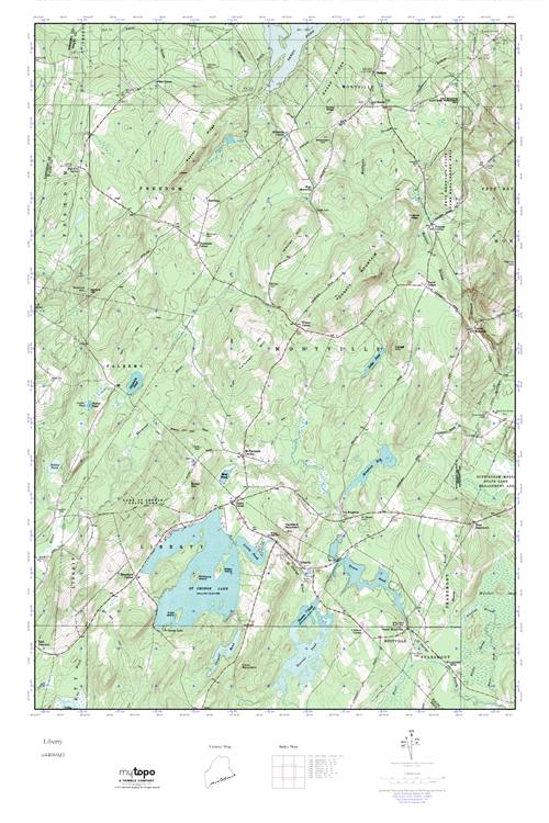 Mytopo Liberty Maine Usgs Quad Topo Map