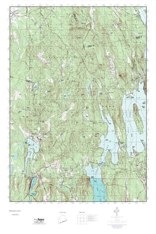 Mytopo Belgrade Lakes Maine Usgs Quad Topo Map