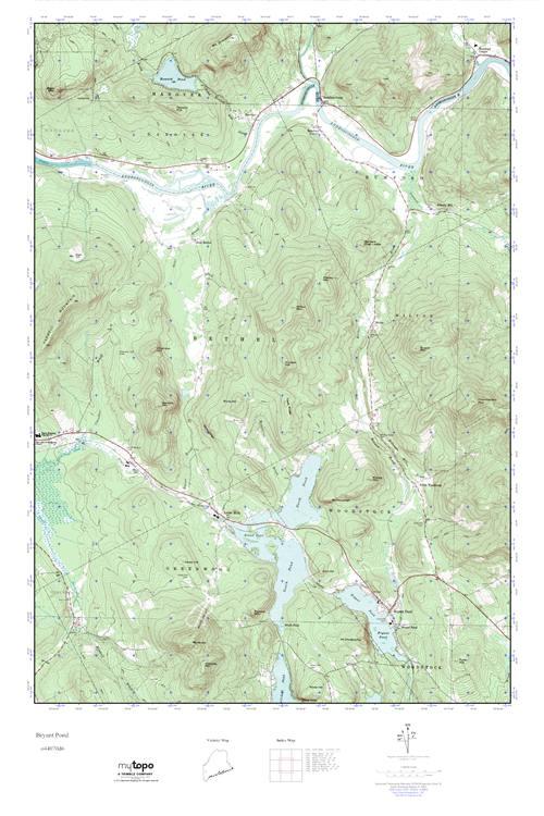 MyTopo Bryant Pond, Maine USGS Quad Topo Map