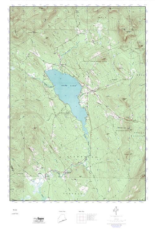 Mytopo Weld Maine Usgs Quad Topo Map