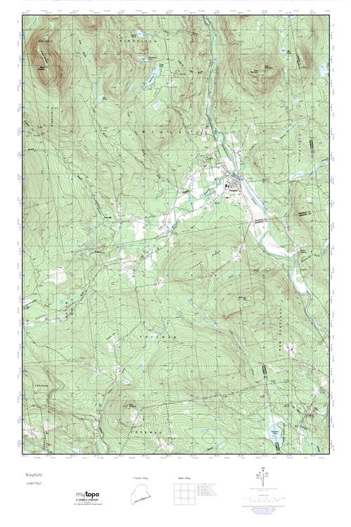 Kingfield Maine Map.Mytopo Kingfield Maine Usgs Quad Topo Map