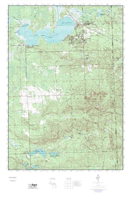 Mytopo Saint Helen Michigan Usgs Quad Topo Map