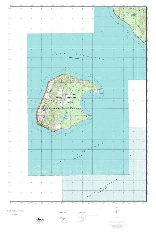 North Manitou Island Topo Map