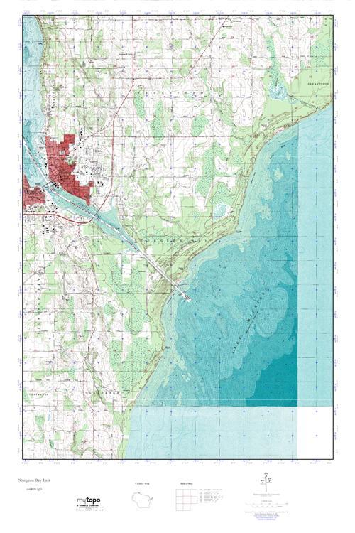 Mytopo Sturgeon Bay East Wisconsin Usgs Quad Topo Map